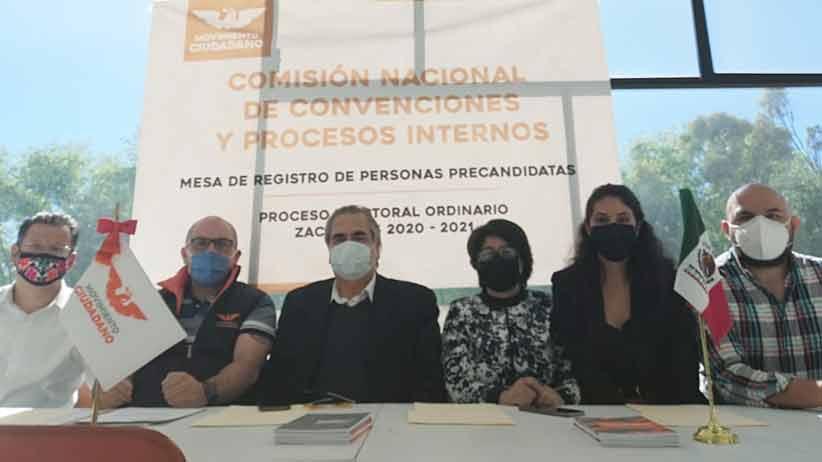 """""""Ya están abiertas las mesas de registros de precandidaturas del 2021"""": MC zacatecas"""