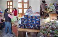 Alistan presentes y apoyos para niños y adultos mayores de Melchor Ocampo
