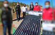 Entregan Sedesol y Ayuntamiento calentadores solares a más de 100 familias de Monte Escobedo