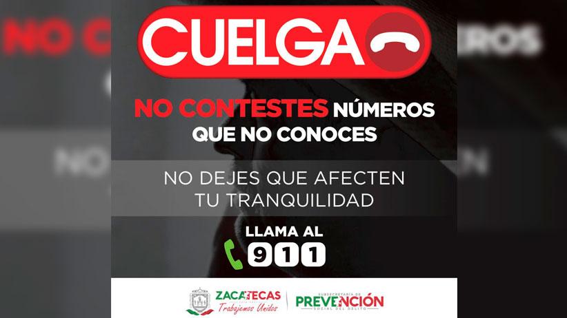 """Con la campaña """"Cuelga"""", buscan autoridades prevenir extorsiones telefónicas"""