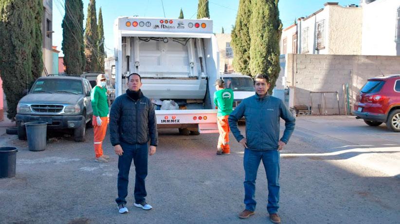 Supervisa Julio César Chávez ruta de recolección de residuos sólidos
