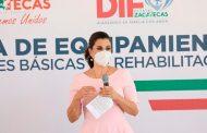 Beneficia SEDIF con equipo a UBR's de Jerez, Monte Escobedo, Villanueva y Tepetongo