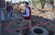 Supervisa Julio César Chávez ampliación de red de agua potable y drenaje
