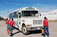 Realizan jornada de sanitización para el transporte público en Villanueva