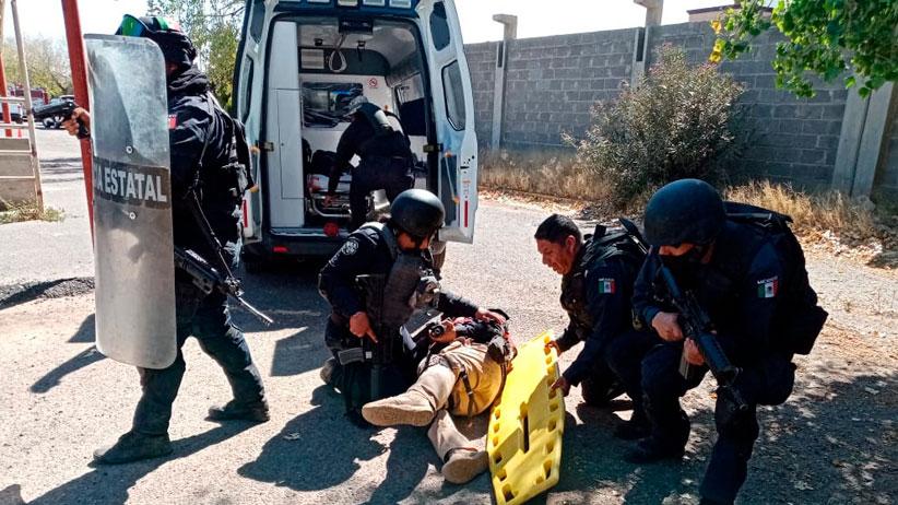 PC Fresnillo instruye a policías estatales en materia de respuesta a contingencias