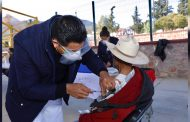 2 mil 076 adultos mayores fueron inmunizados en el primer día de aplicación de la vacuna en Zacatecas