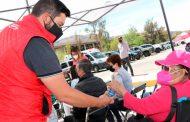 Instala SEDIF puntos de hidratación en puestos de vacunación Covid