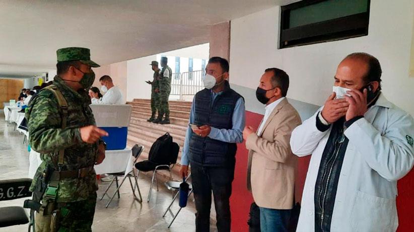 Colabora personal del Ayuntamiento de Guadalupe en módulos de vacunación contra el Covid-19