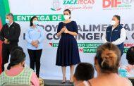 Entrega SEDIF apoyos a familias vulnerables de Villa de Cos