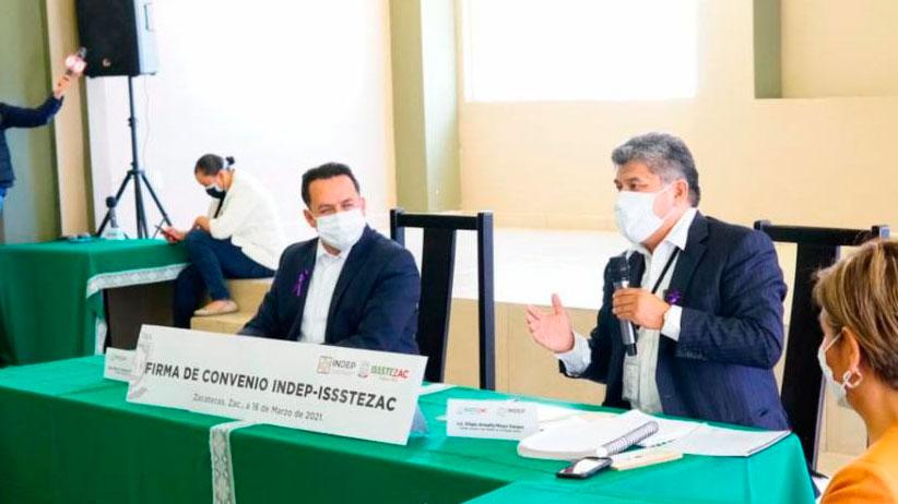 Firman convenio Indep e Issstezac; facilitará procesos de enajenación de bienes inmuebles