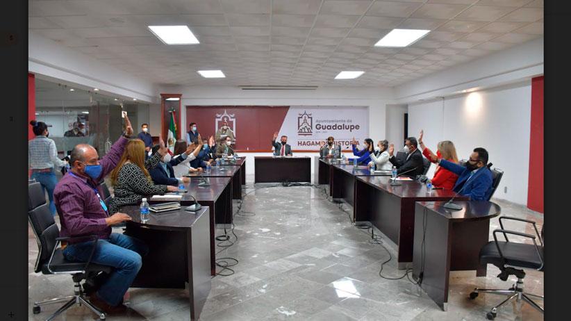 Integra Ayuntamiento de Guadalupe Comisión de Entrega