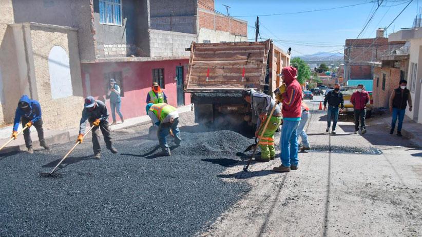 El Ayuntamiento de Guadalupe interviene calles en Colonia Bellavista