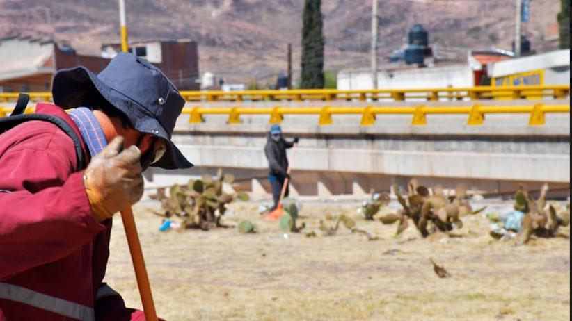 Realizan jornada de limpieza en Tránsito Pesado