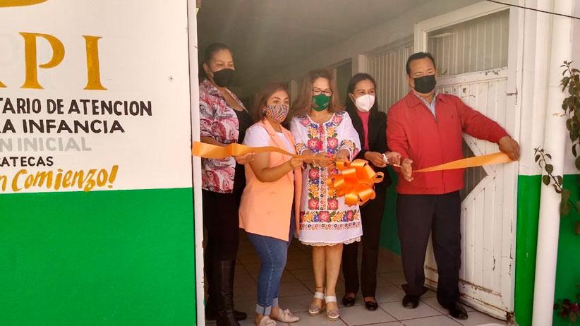 Inauguran en Pinos  Centro Comunitario de Atención a la Primera Infancia.