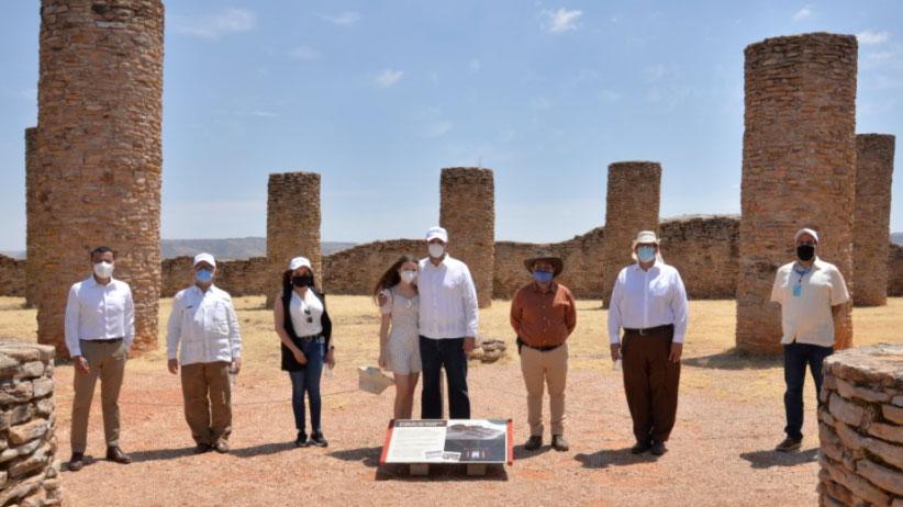 Encabeza Gobernador Alejandro Tello reapertura de la Zona Arqueológica y Museo de sitio La Quemada