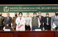 Reconoce director general del IMSS, Zoé Robledo, labor de la delegada de Programas para el Desarrollo, Verónica Díaz Robles, y de los Servidores de la Nación en la Estrategia Nacional de Vacunación contra el Covid-19
