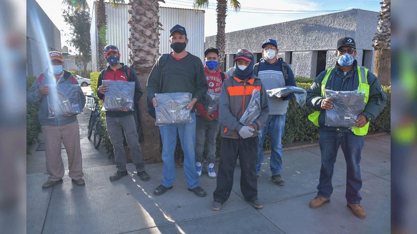 Entregan uniformes a personal de la Dirección de Servicios Públicos del municipio de Guadalupe
