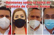 Opiniones sobre la toma de protesta de Claudia Anaya (video)