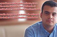 Ya perdimos el impuesto minero, hace falta un diputado que defienda al semidesierto: David González Hernández (video)