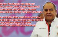 """""""Va por Zacatecas"""" no debe ser solo cupular, debe ser horizontal en las bases del partido y niveles intermedios: Genaro Morales Rentería (video)"""