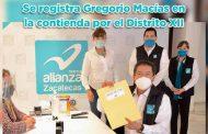 Se registra Gregorio Macías en la contienda por el Distrito XII