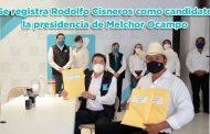 Se registra Rodolfo Cisneros como candidato la presidencia de Melchor Ocampo (video)