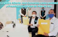 Se registra Alberto José Cervantes como candidato a Presidente Municipal de Villa de Cos (video)