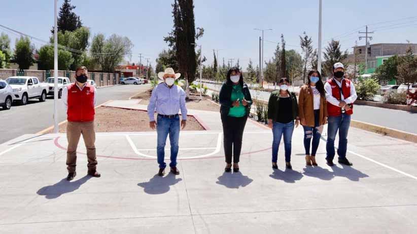 Gobierno del Estado construye y rehabilita espacios públicos en Villa Hidalgo