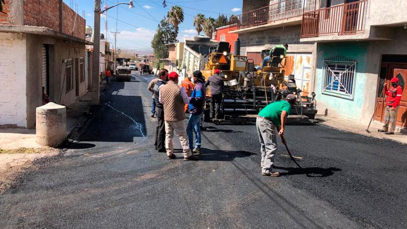 Gobierno Estatal y Municipio de Villa Hidalgo unen esfuerzos para pavimentar calles