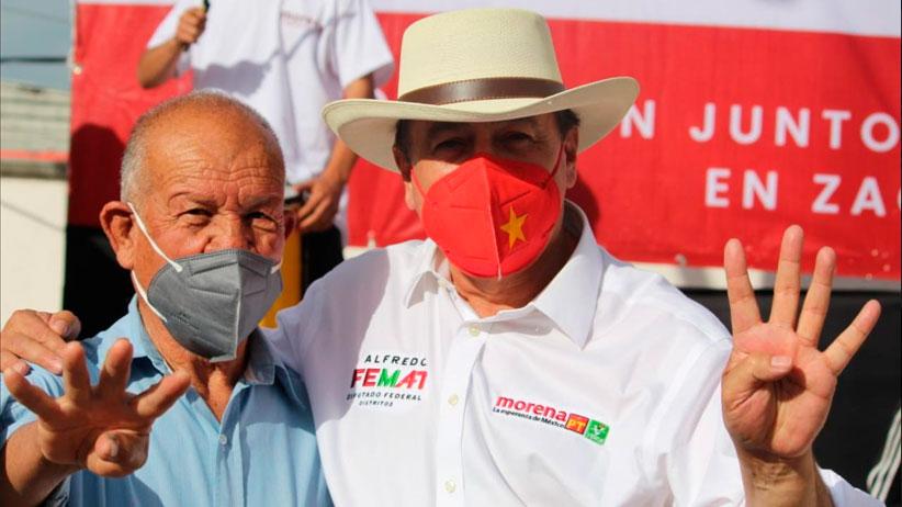 Recorren Femat y David Monreal los municipios de El Salvador, Melchor Ocampo y Concepción del Oro