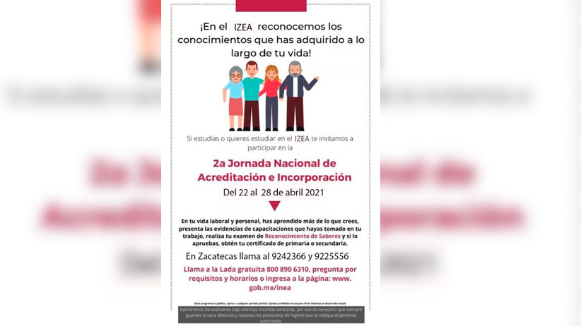 Invitan a zacatecanos a que acrediten la educación primaria y secundaria