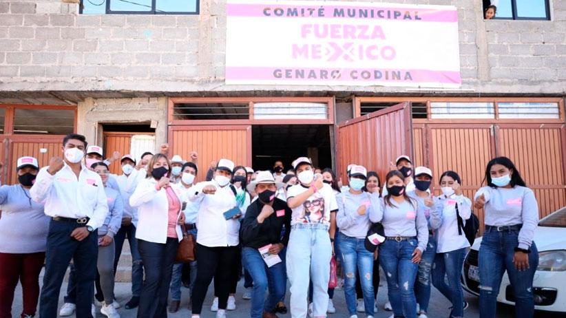 Se mantiene sólida la campaña de Fuerza por México en Genaro Codina