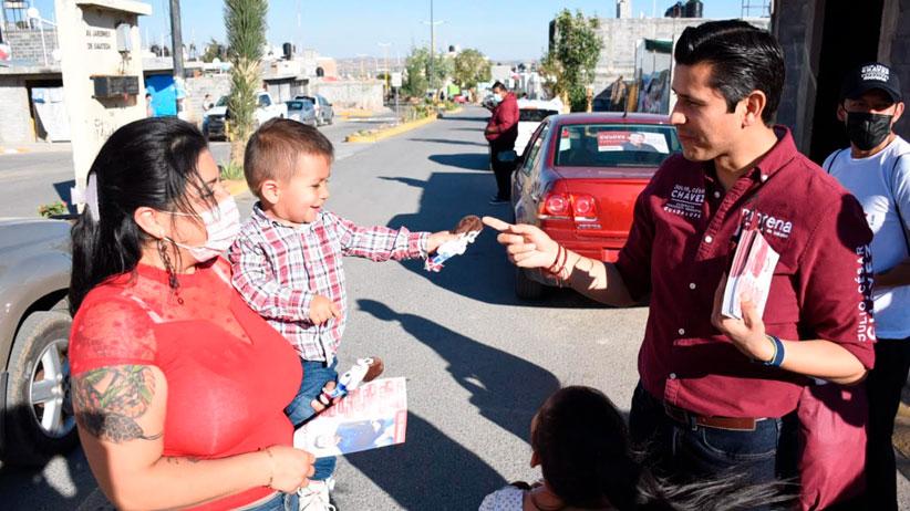 Mantiene Julio César Chávez recorridos en colonias de Guadalupe