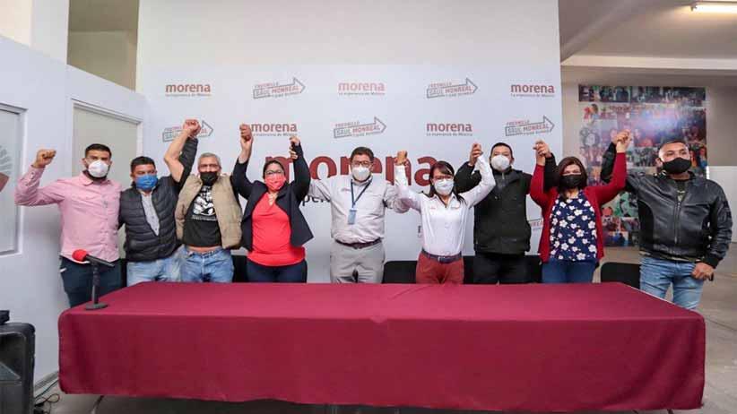 Refuerza Saúl Monreal su proyecto con la adhesión del sindicato de mineros independientes.