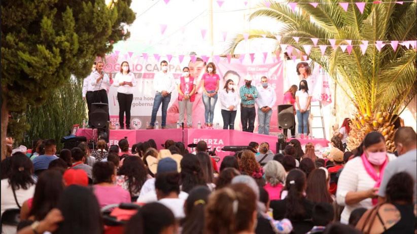 Festejan candidatos de Fuerza Por México el día de las madres en Enrique Estrada
