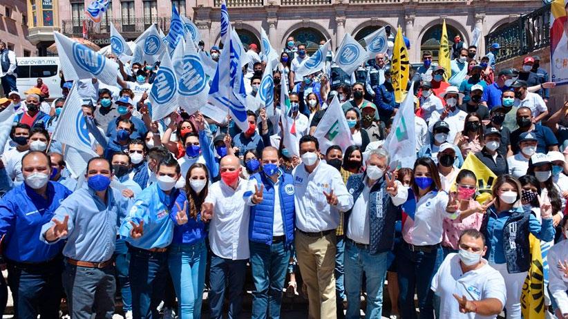 Respalda Marko Cortés a candidatos de la alianza Va por Zacatecas