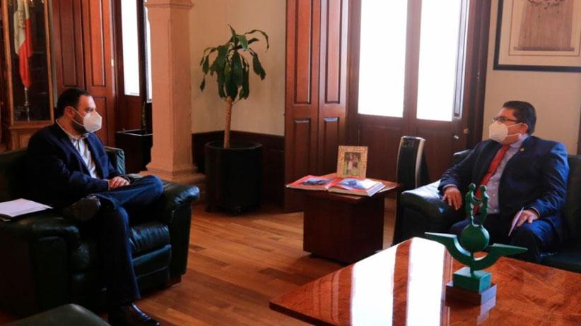 Gobernador Tello y Rector acuerdan frente común en favor de la UAZ