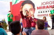 Jorge Miranda, 25 puntos arriba en las encuestas.