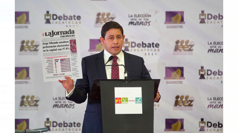 Jorge Miranda destaca en el debate por sus propuestas y respeto a sus adversarios
