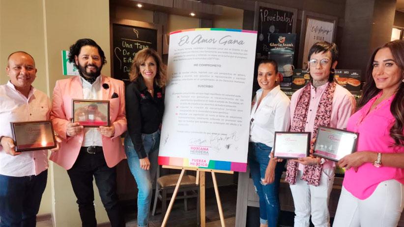 Firma Roxana Herrera de Fuerza Por México, compromiso con la comunidad LGBTTTIQ+ para trabajar por los Derechos Humanos