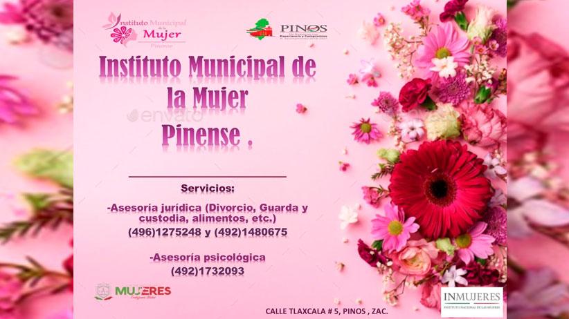 Ofrece IMMUPI asesorías a mujeres Pinenses