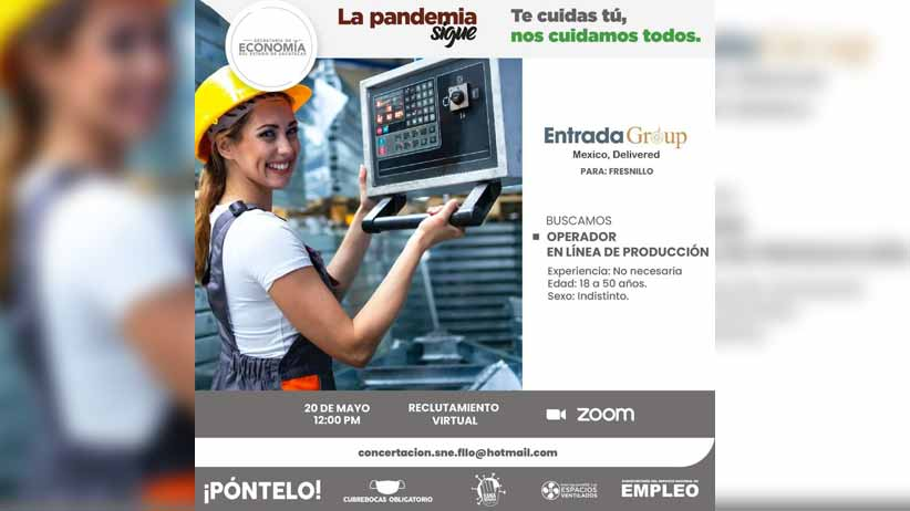 Reiteran invitación a participar en Feria del Empleo para la manufactura; ofertarán 365 vacantes