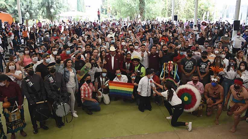 Jóvenes respaldan proyecto de David Monreal y Julio César Chávez