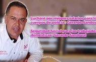 Mejores salarios para los cuerpos de policía: Gerardo Sandoval (video)