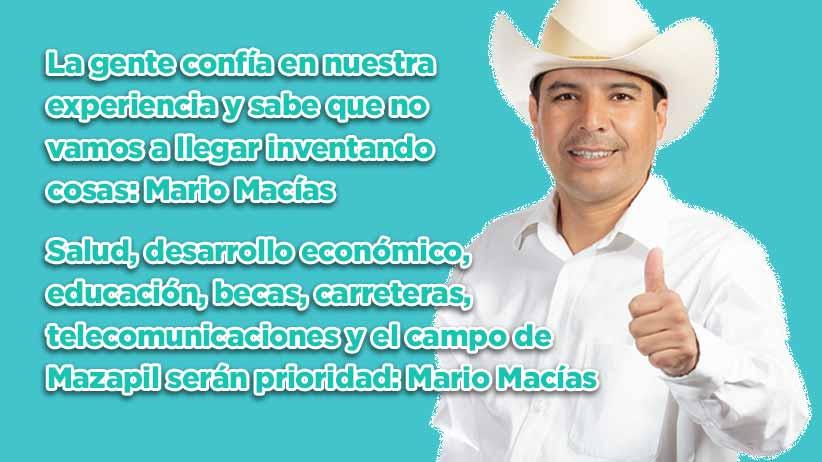 La gente confía en nuestra experiencia y sabe que no vamos a llegar inventando cosas: Mario Macías (video)