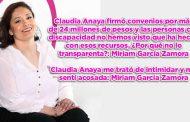 Claudia Anaya me trató de intimidar: Miriam García Zamora