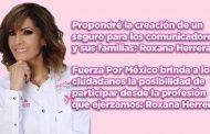 Propondré la creación de un seguro para los comunicadores y sus familias: Roxana Herrera