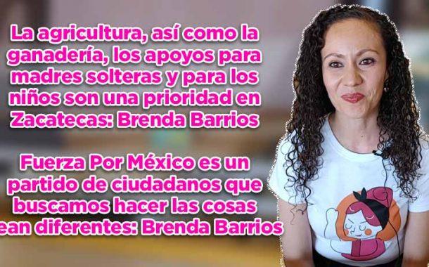 La agricultura, así como la ganadería, los apoyos para madres solteras y para los niños son una prioridad en Zacatecas: Brenda Barrios (video)
