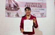 Recibe Maribel Galván constancia de Mayoría como Diputada electa en el Distrito VI
