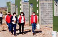 Verifica Gobierno construcción de viviendas en Santa María de la Paz